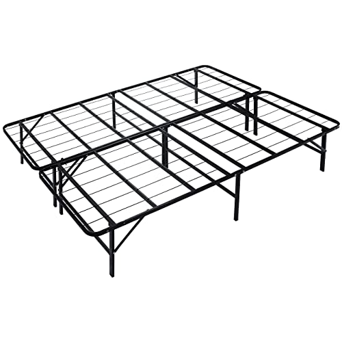 "Metal platform bed frame California king Naomi Home idealBase 14"" Mattress Foundation"