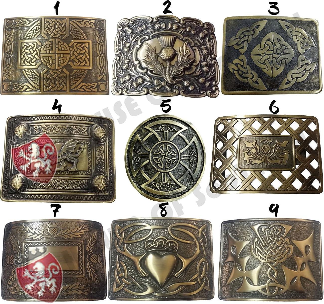 New Mens Kilt Belt Buckle Celtic Swirl Pattren Antique Finish//Celtic Belt Buckle