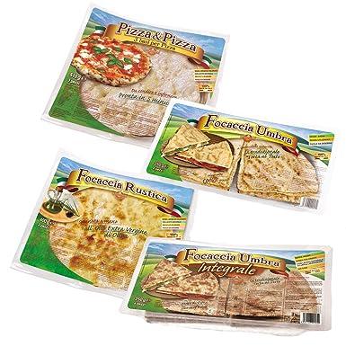 KIT HORNO 2 paquetes Bases de Pizza + 2 paquetes Focaccia ...
