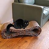 Easipet Large Cardboard Corrugated Sofa Bed style Cat Scratcher (Leopard Print)