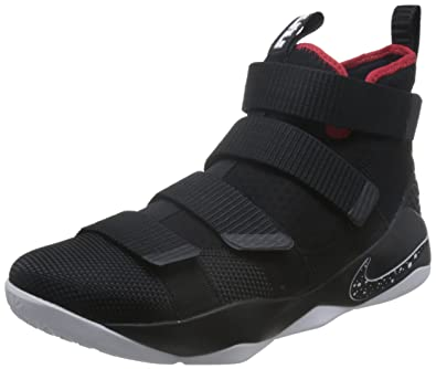 new product eb99e 2a469 Amazon.com | NIKE Men's Lebron Soldier XI EP, Black/White ...