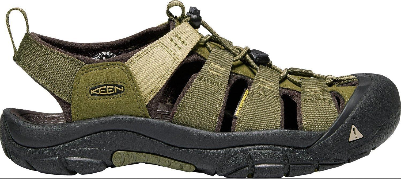 KEEN Men's Newport Hydro-M Sandal, Dark Olive/Antique Bronze, 11 M US