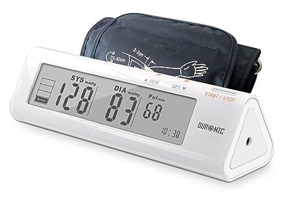 Duronic BPM450 Tensiómetro de Brazo Monitor Presión Arterial Eléctrico con Función Memoria Lecturas de Presión Arterial