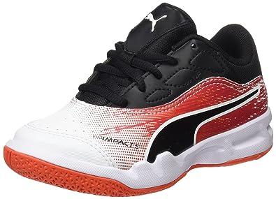 sale retailer c3406 fab8f Puma Evoimpact 5.3 Jr, Chaussures de Fitness Mixte Enfant, Blanc  (White-Black