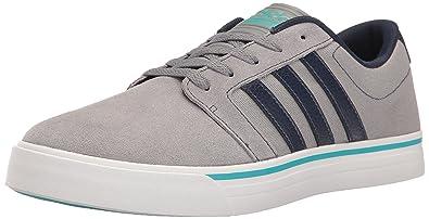 5eb3b56c233 adidas Men s Cloudfoam Super Skate Fashion Sneakers Grey Navy Energy Blue  (8 M