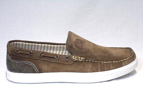 Greenwick Polo Club Zapatos mocasin Sport Hombre Lona Fondo Gomma PU S40129 Beige,45: Amazon.es: Zapatos y complementos