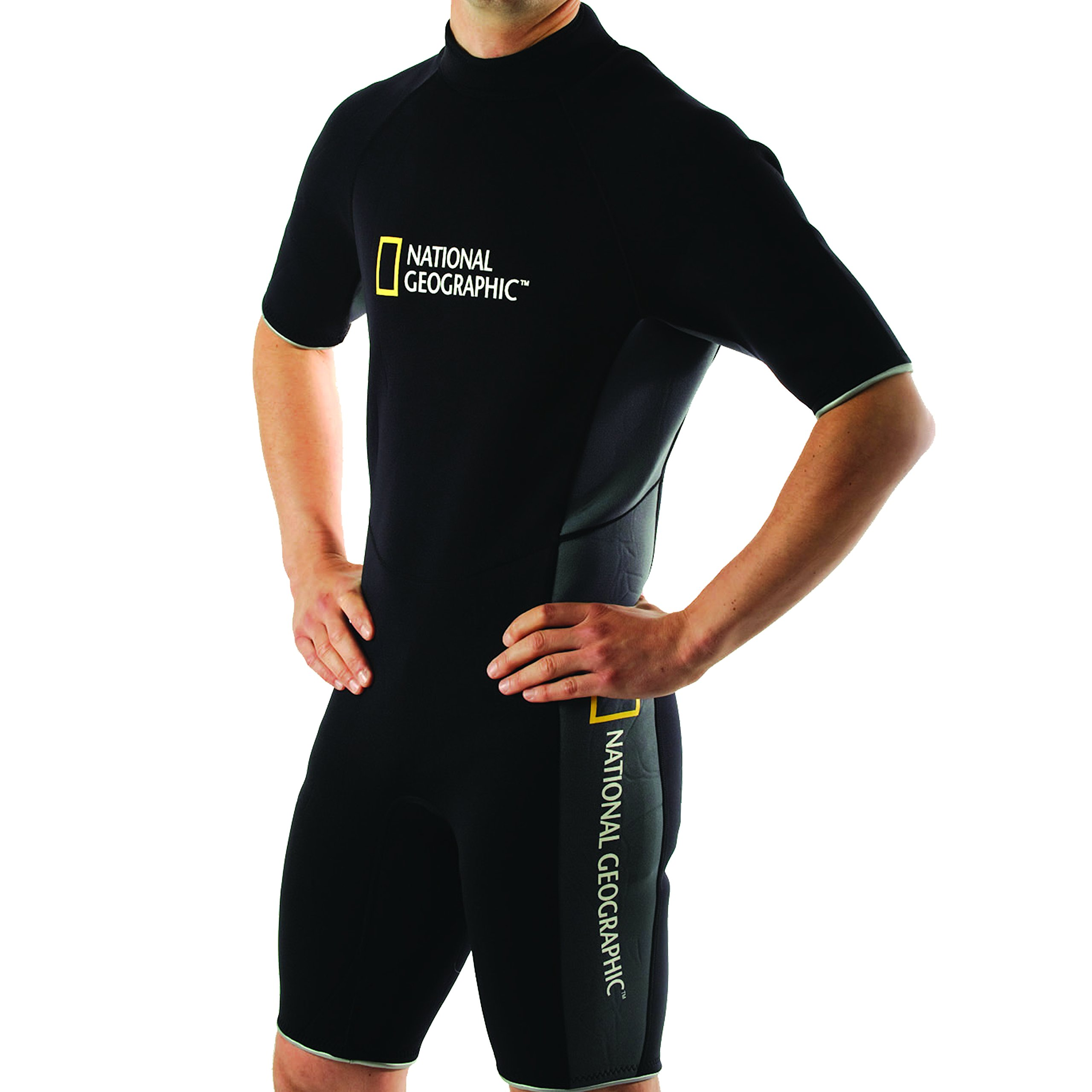 National Geographic Snorkeler Men's Classic Shorty Suit, Medium 5902