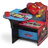 Cars Tisch-Stuhl Kombination mit Staufach (Rot/Blau)