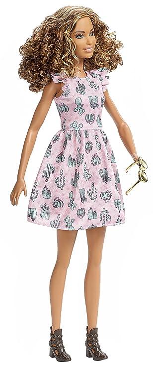 Barbie Fashionista Vestido Cactus (Mattel Spain DYY97): Amazon.es: Juguetes y juegos