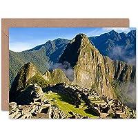 Photograph Landmark Machu Picchu Ruins Blank Greetings Birthday Card