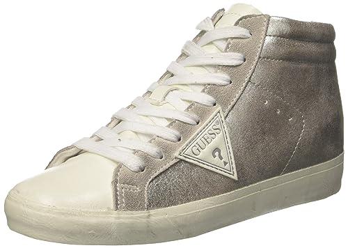 Guess Holly, Zapatillas de Tenis para Mujer, Plateado (Silver Silve), 36 EU: Amazon.es: Zapatos y complementos