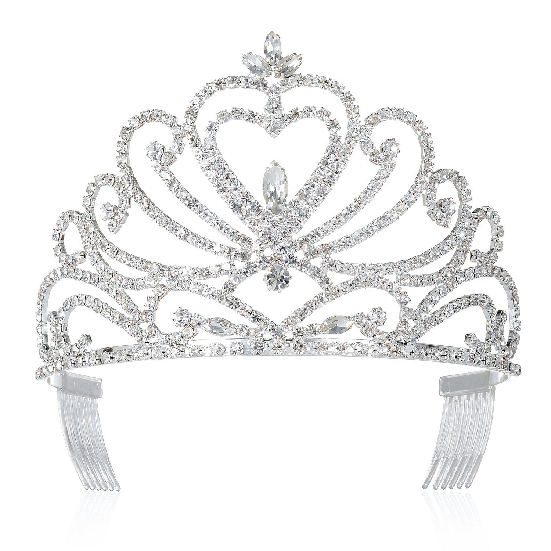 DcZeRong Tiara Crown Queen Crowns Prom Tiara Wedding Tiaras Prom Crowns Women Tiaras Bridal Tiaras by DcZeRong