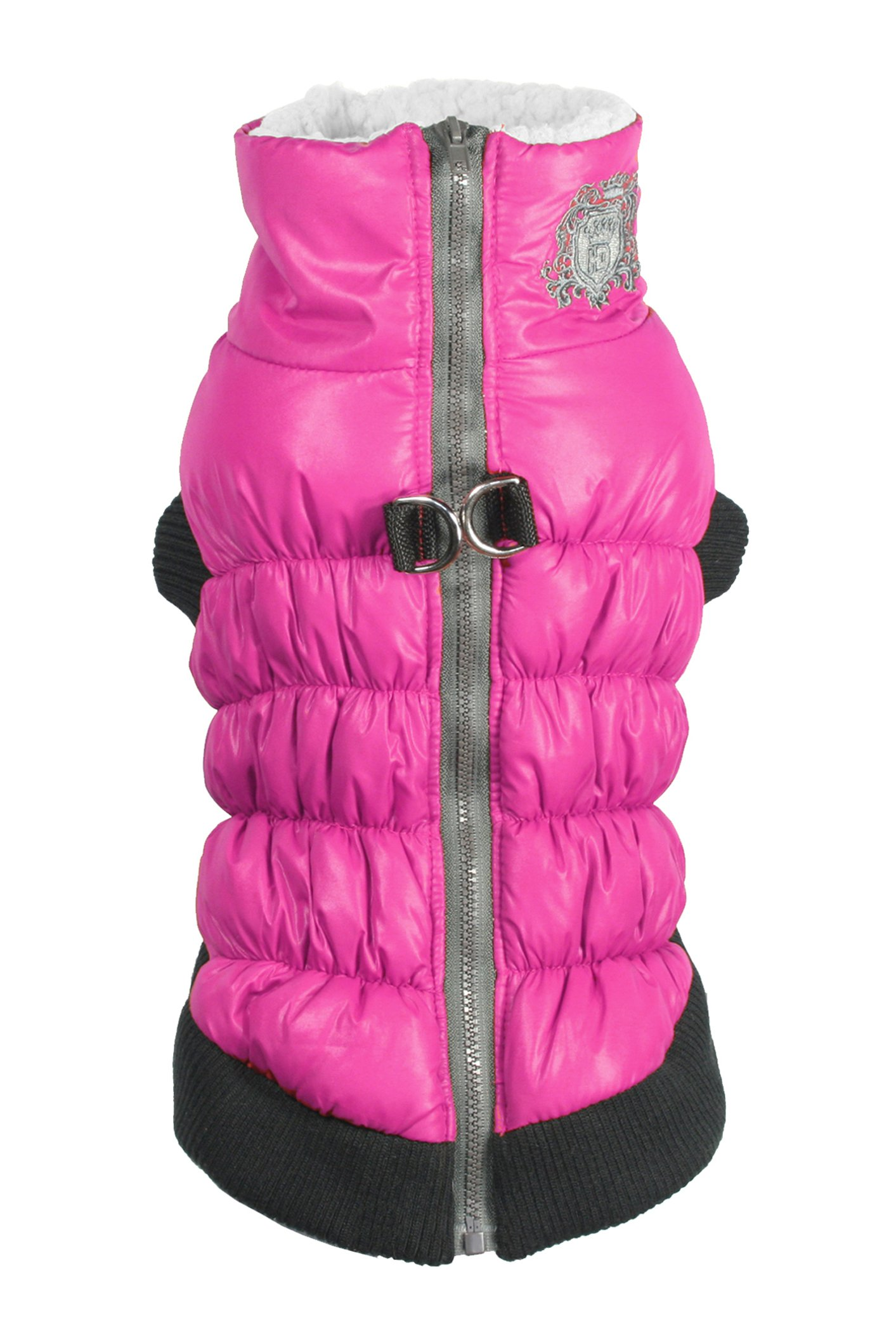 Hip Doggie Water Repellent Dog Coat - Winter Jacket with Fur Lining