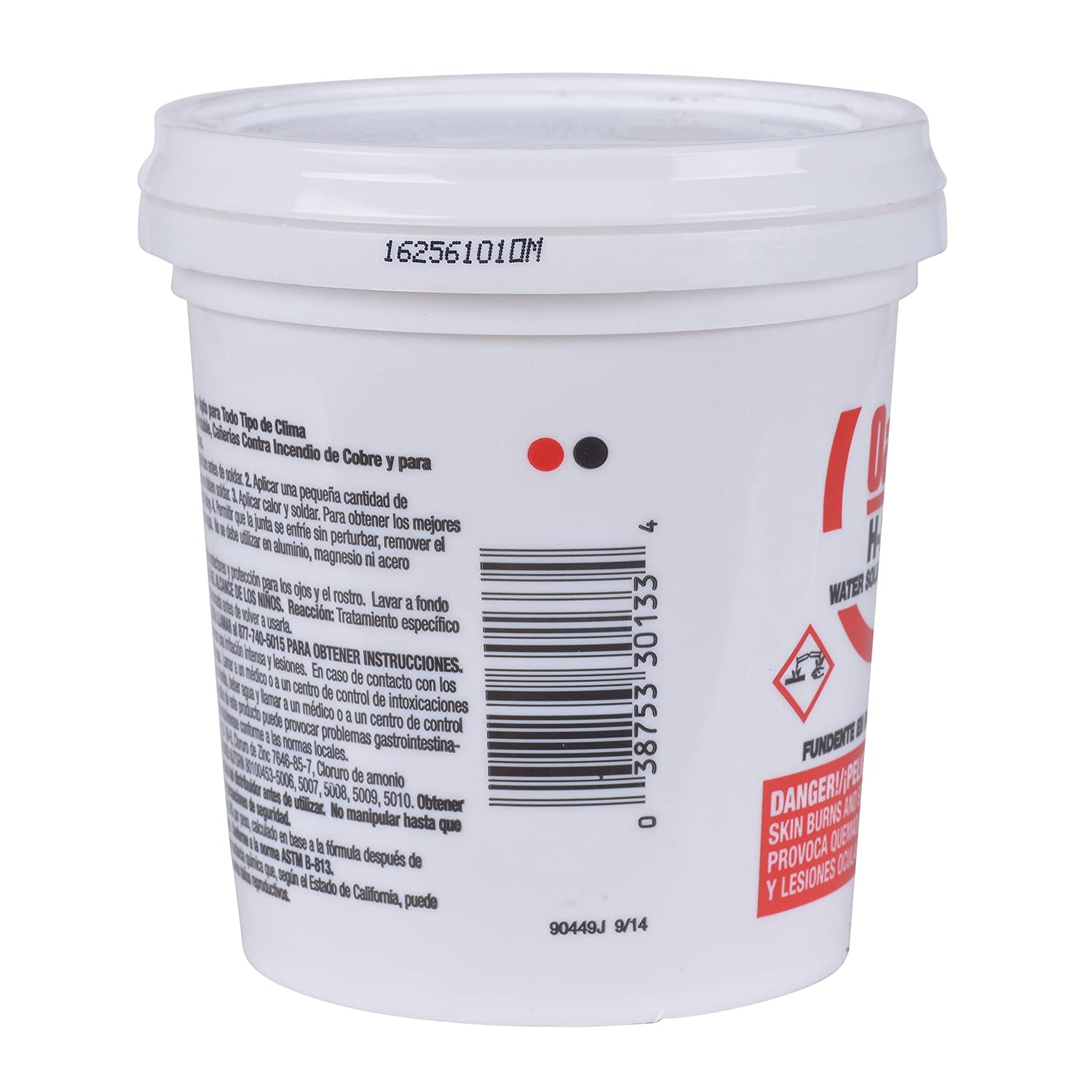 Oatey 30133 H205 Water Soluble Paste Flux, 16-Ounce: Amazon.es: Bricolaje y herramientas