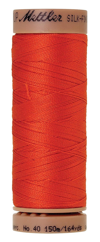 164 yd//150m Paprika Mettler Silk-Finish 40 Weight Solid Cotton Thread