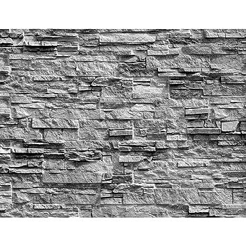 Lieblich Fototapeten Steinwand 3D Effekt Grau 352 X 250 Cm Vlies Wand Tapete  Wohnzimmer Schlafzimmer Büro Flur