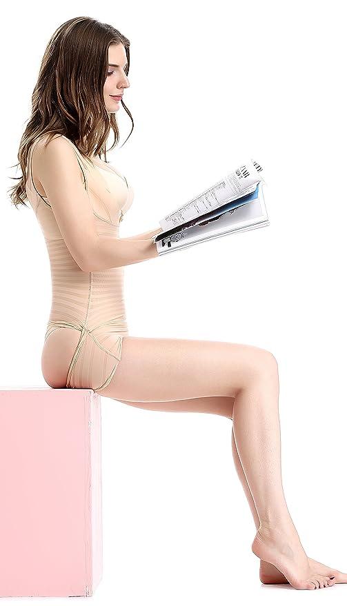 0ab94eb5e0e5a Kffyeye Women s Zebra High Waist Firm Control Slimmer Shapewear Bodysuit