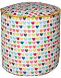 Sattva Love Affair FK01001039 Large Footstool Without Beans (Little Hearts)