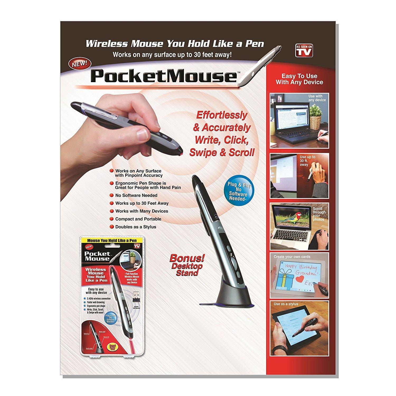 Pocket Mouse 2 Pack 24 Ghz Usb 20 Wireless Optical Plug Wiring Diagram In 1 Digital Pen Stylus Adjustable 800 1200 1600 Dpi Ergonomic For