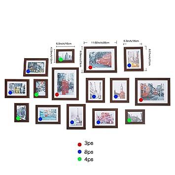 Amazon.com - Livebest 15pc Multi Pack Picture Frame Value Set ...