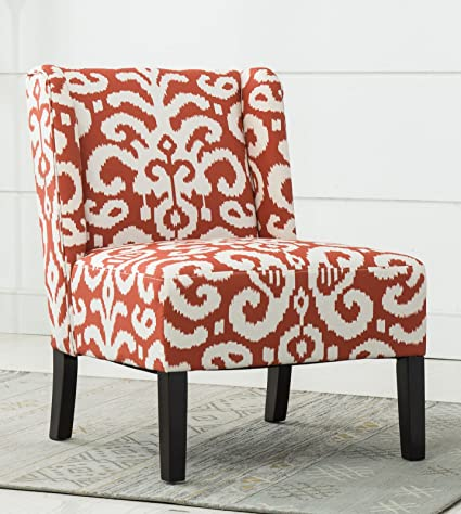 Amazoncom Best Quality Furniture Ac260 Red And White Printed