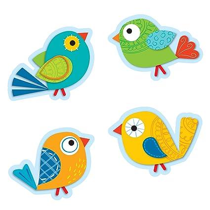 Amazon Com Carson Dellosa Boho Birds Cut Outs 120115 Themed