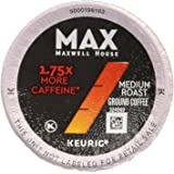 MAX Maxwell House 18 Piece Boost K-Cup Pods Coffee, 1.75x Caffeine, 7.16 Ounce