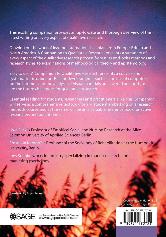 A Companion to Qualitative Research: Amazon.de: Ernst von Kardorff ...