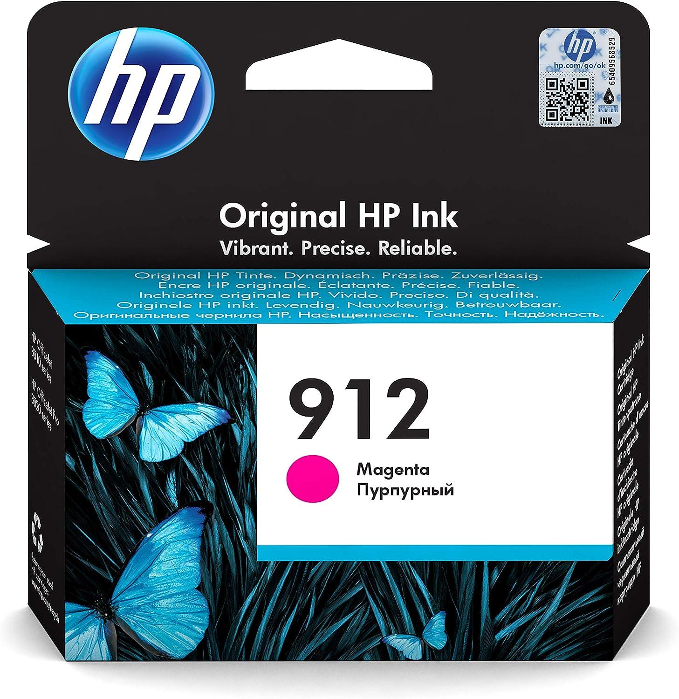 HP 912 3YL78AE, Magenta, Cartucho de Tinta Original, Compatible con impresoras de inyección de Tinta HP OfficeJet Pro Series 8010; 8020