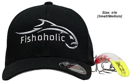055e6bab109 Fishoholic Baseball Fishing Hat ~ 6 Colors   3 Sizes. Angry Fish Logo on  Trucker