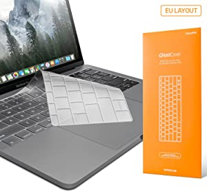 """UPPERCASE GhostCover Premium Ultra Thin Keyboard Protector for MacBook Pro with Function Keys 13"""", NO Touch Bar (2016 2017 2018 Release, Apple Model Number A1708), US/EU Keyboard Layout Compatible"""