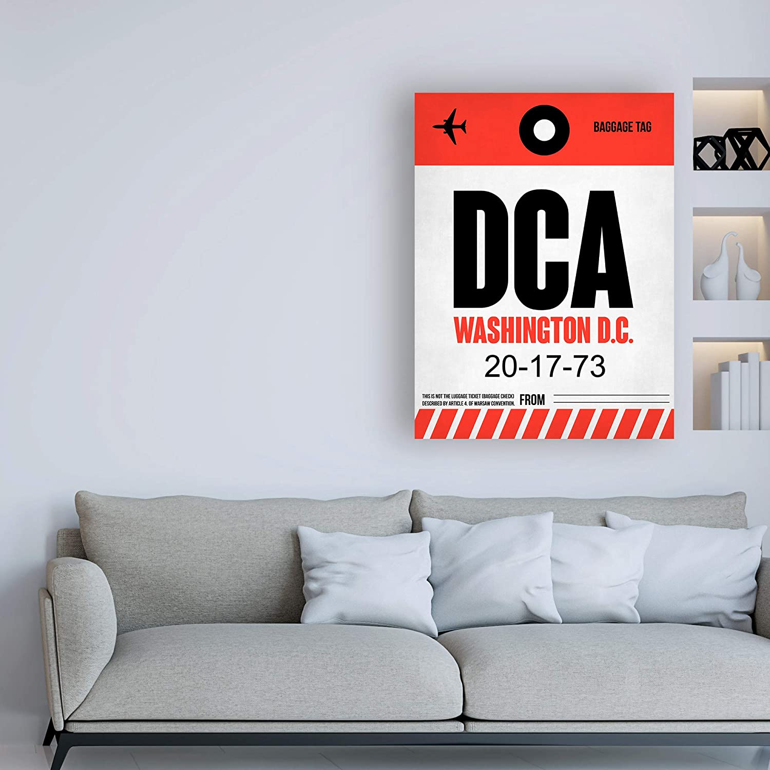 Amazon.com: Trademark Fine Art DCA Washington Luggage Tag 1 ...