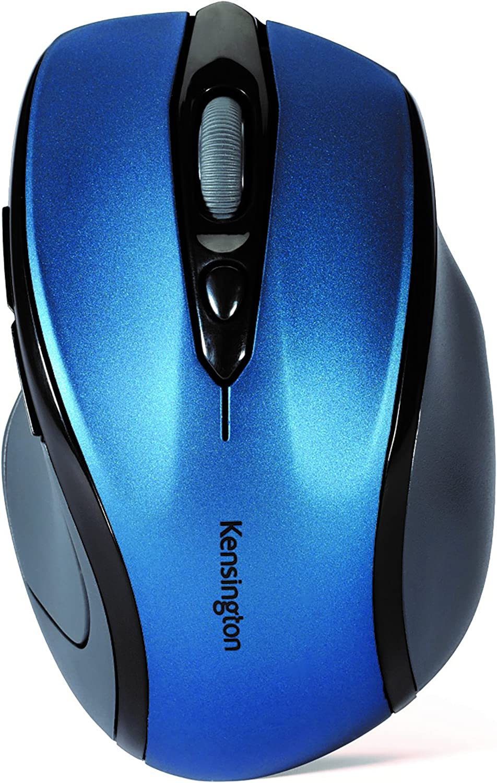 Kensington Pro Fit Mid-Size Wireless Mouse, Sapphire Blue (K72421AM)