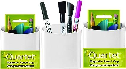 Pack de 3 Quartet Soporte Magnético/Pen Lápiz Soporte de Taza, 1 de cada negro, gris y blanco.: Amazon.es: Oficina y papelería