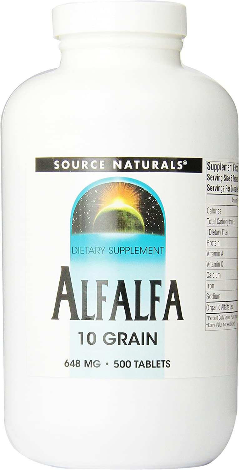 Source Naturals Alfalfa 10 Grain Dietary Supplement - 500 Tablets: Health & Personal Care