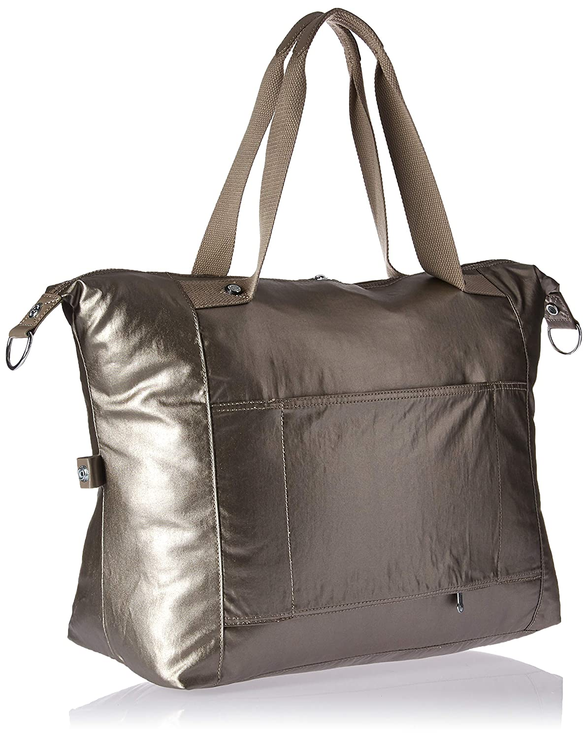 Kipling Carton Travel Tote, Metallic Pewter