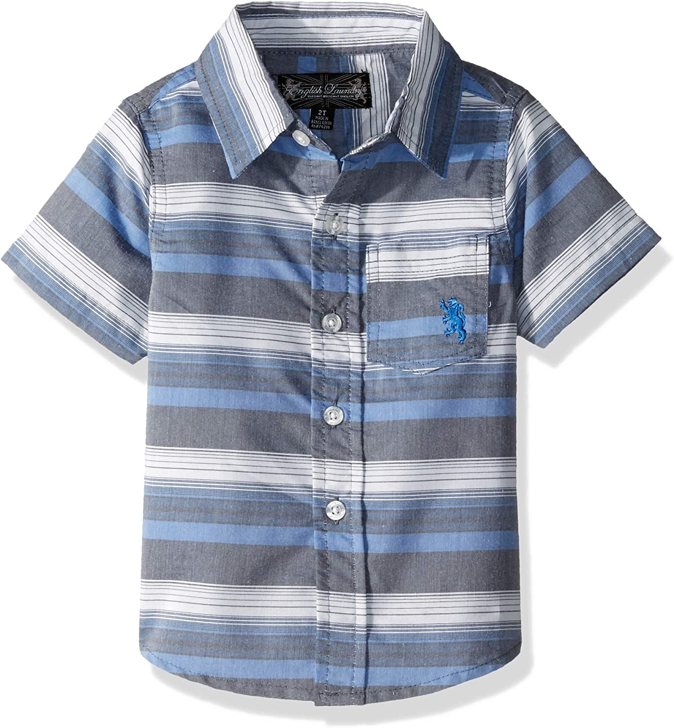 English Laundry Boys' Classic Short Sleeve Woven Shirt