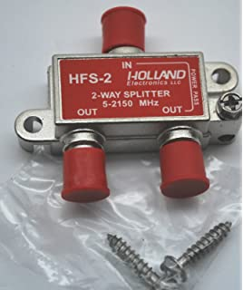2-WAY COAX SPLITTER HOLLAND HFS-2 5-2150Mhz DISH NETWORK APPROVED HOPPER