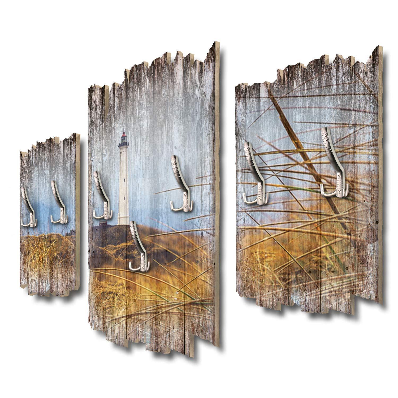 Kreative Feder Weißer Leuchtturm Designer Wandgarderobe Flurgarderobe Wandpaneele 95 x 60 cm aus MDF DTGH112