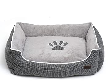 Amazon.com: Cama rectangular grande para 4 patas con base de ...