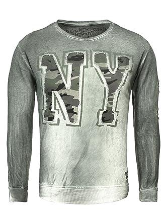 Key Largo Herren Pullover N.Y. Vintage Look Camouflage