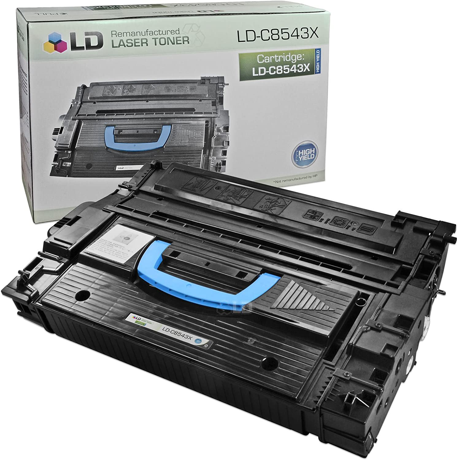 LD Remanufactured Toner Cartridge Replacement for HP 43X C8543X High Yield (Black)