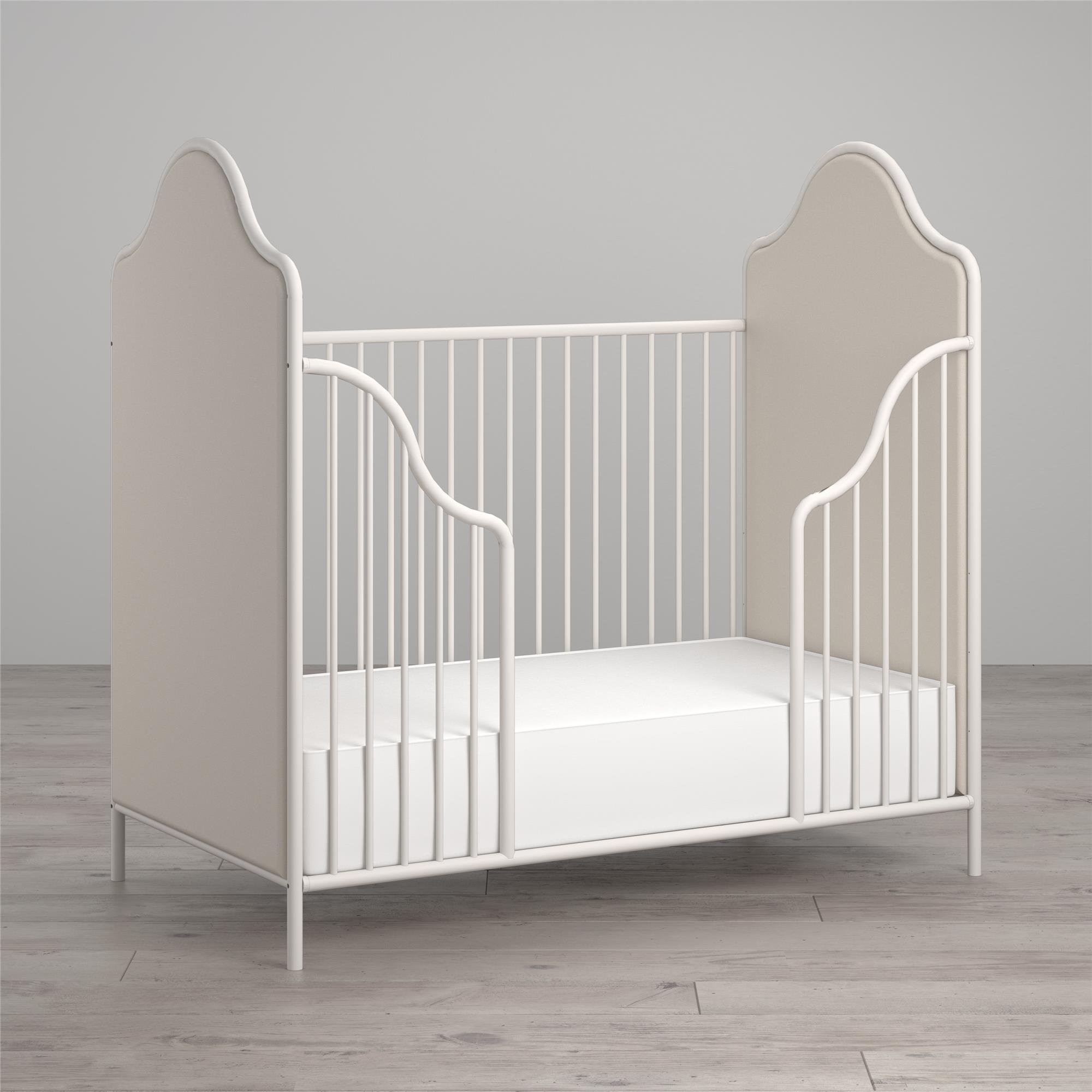 Amazon Com Little Seeds Piper Upholstered Metal Crib