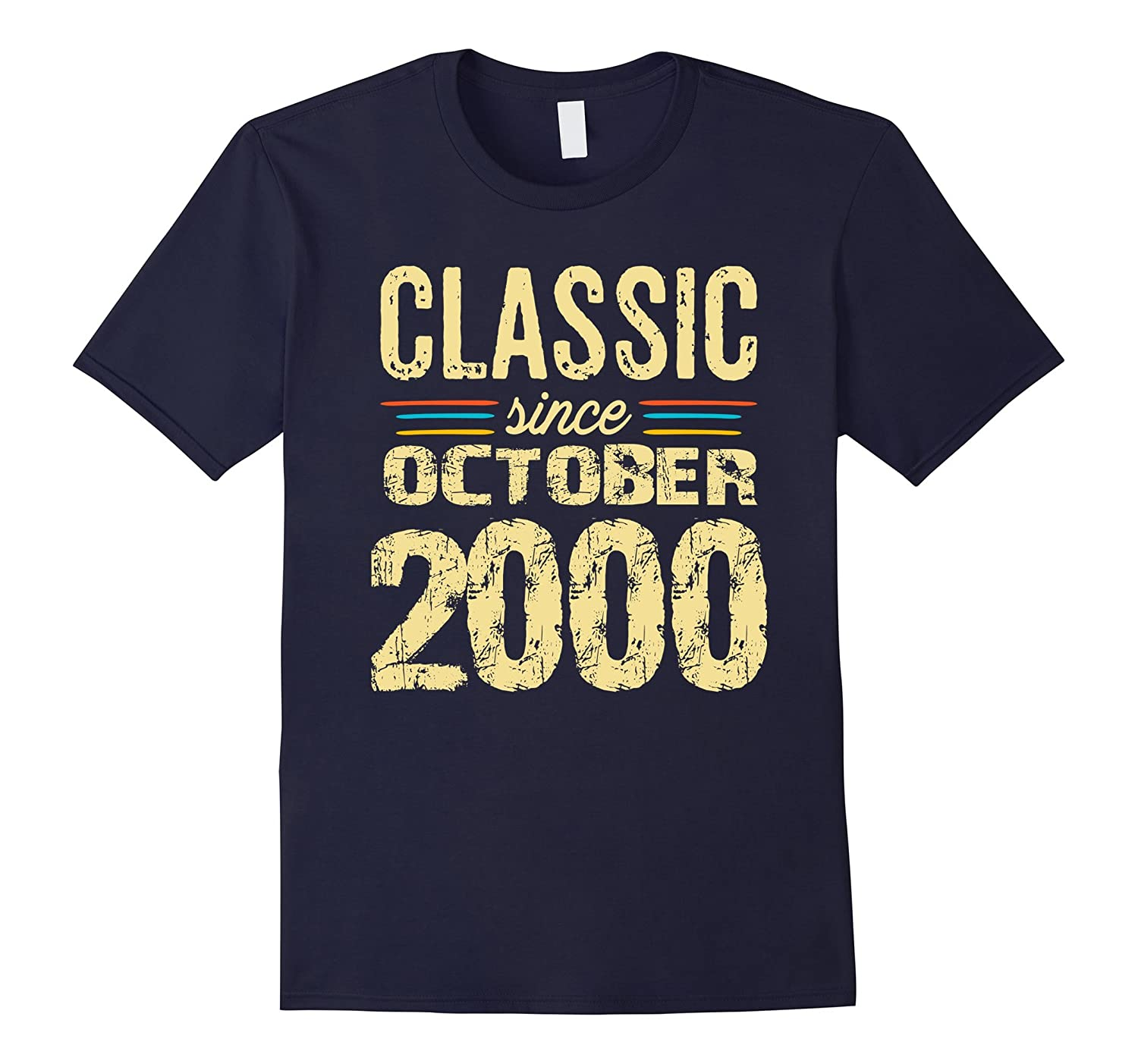 Classic October 2000 17th Birthday Gifts 17 yrs old T-shirt-FL