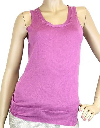 7f75c510b7f6cb Amazon.com  Gucci Women s Purple Cashmere Large Logo Tank Top 310422 ...