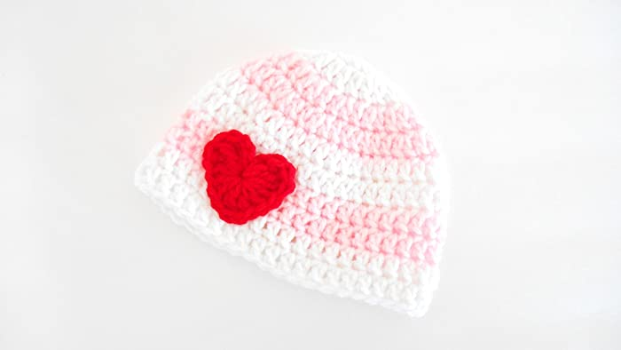 65df88d75ef Image Unavailable. Image not available for. Color  Valentine s Day Crochet  Baby Hat ...
