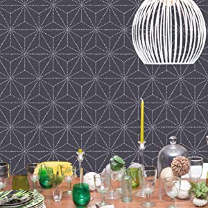 Shibori Pattern Asian Design Wall Stencil for Painting Geometric Wallpaper Look