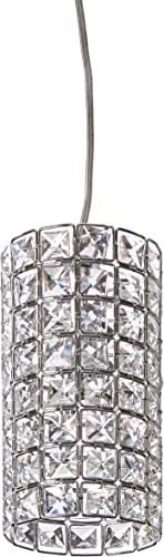 1 Light Round Shape Crystal Mini Pendant Light in Chrome Finish with Crystal – Joshua Marshal 7027-001