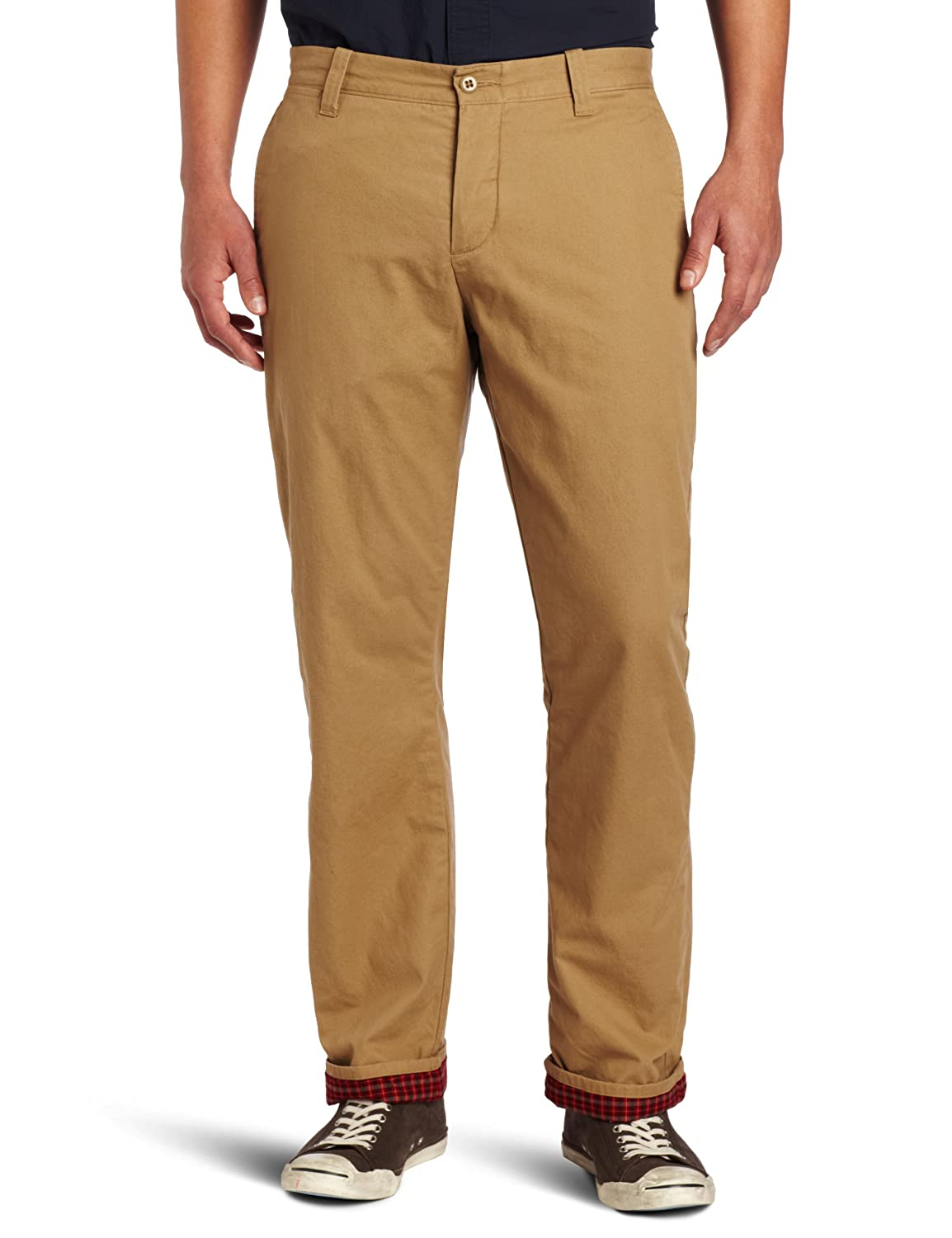 Dockers Mens Flannel Lined Ultimate Khaki D2 Flat Front Pant, New British Khaki - discontinued, 30W x 30L at Amazon Mens Clothing store:
