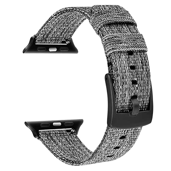 d7c1253c9f TRUMiRR for Apple Watch Band 42mm 44mm Men Women, Woven Nylon Watchband  Metal Stainless Steel Clasp Strap Sports Bracelet Wristband for iWatch  Apple ...